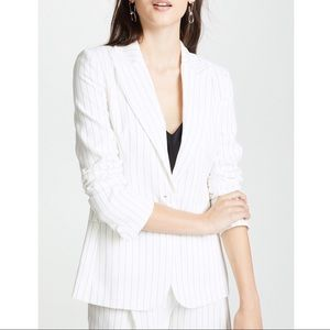 New Rachel Zoe Dominique Pinstriped Piqué Blazer 8